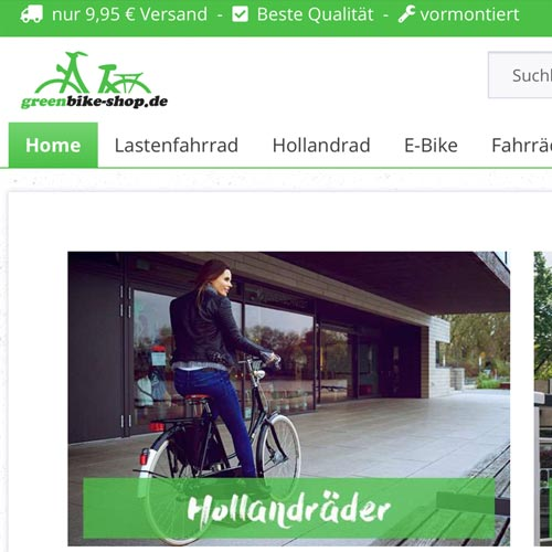 greenbike shop kunde- Fabian Praschl Performance Marketing